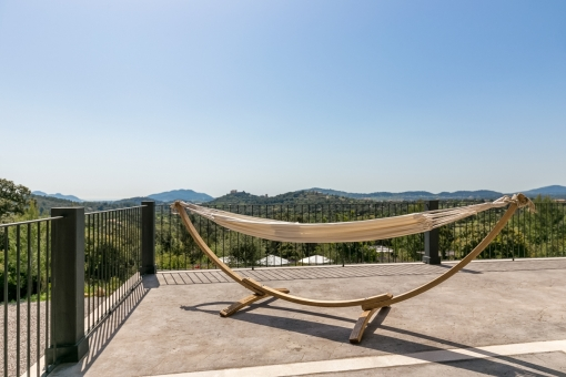 Great hammock on the terrace