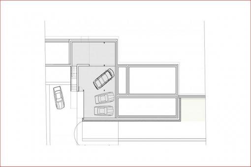 Bauzeichnung der Garage