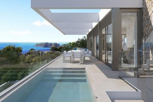 Modern Villa with breathtaking sea views in Nova Santa Ponsa