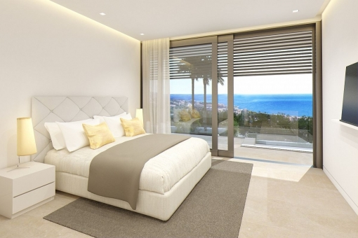All bedrooms offer sea views