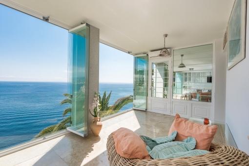 Die Wohnung ist ideal um das mediterrane Leben zu genießen