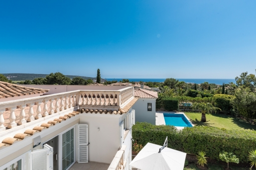 The villa is located in a superb location