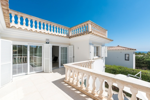 Sunny terrace on the upper floor