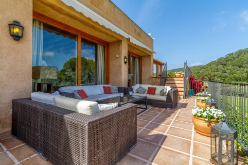 Spacious chill out area on the terrace