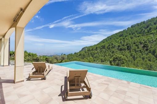 Mediterranean villa with spectacular views