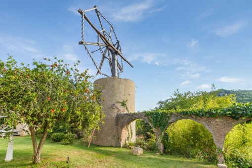 Traditional mallorquin windmill in a fabulous ambience