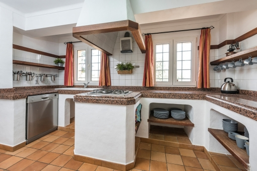 Authentic kitchen with cooking island