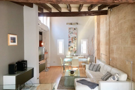 Stylische Penthaus-Maisonette-Wohnung mit großer Dachterrasse in der Altstadt Palmas