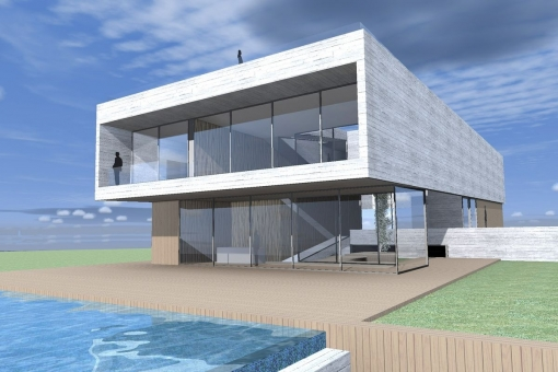 Luxurious villa on the first sea line in Vallgonera with spectacular views