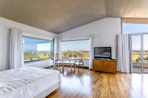 Wundervoller Panoramablick vom Schlafzimmer aus