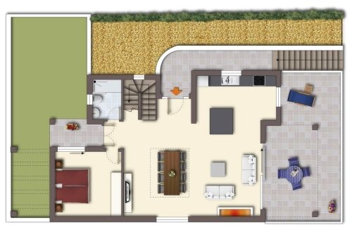 Plan of the ground floor