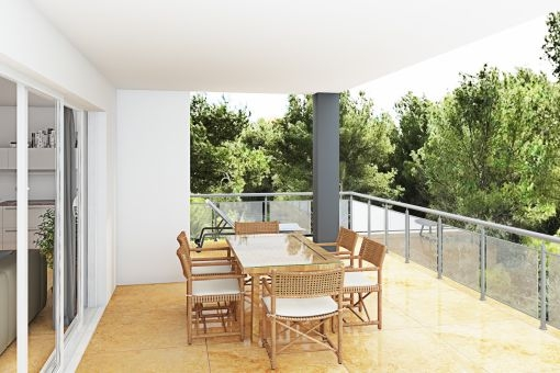 Charming dining area on the terrace