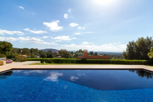 Pool area with fantastic views