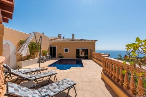 Schönes Haus mit privatem Pool und herrlichem Meerblick in Costa d'en Blanes