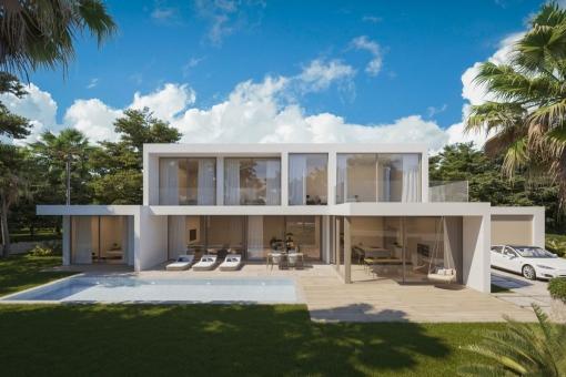 Minimalistic, modern villa project in Santa Ponsa