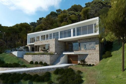 Fantastic new villa project in Portals Vells with wonderful sea views