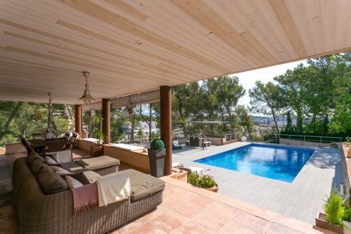 Chill-Out area auf der Terrasse