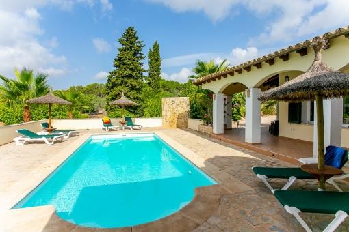 Mediterranean pool terrace