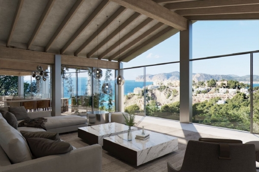 Luxurious newly-built property in Nova Santa Ponsa with views of the Malgrats islands