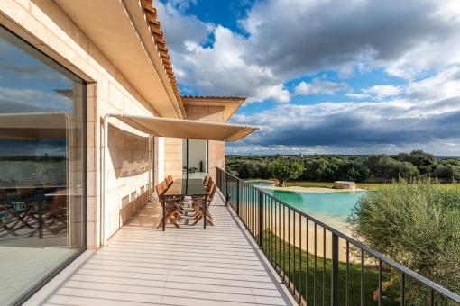 Balcony overlooking the pool