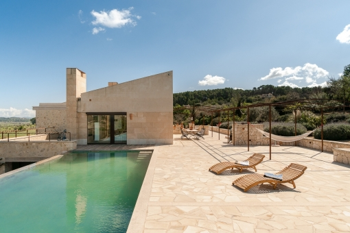 60 sqm infinity pool with terrace
