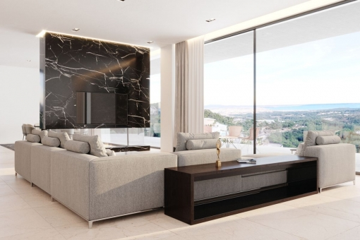 Living area with panoramic views