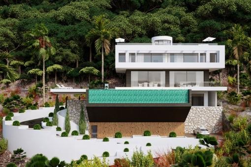 Exterior view of the villa