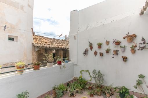 Alternative Ansicht der Terrasse