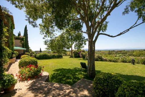 Splendid garden of the finca