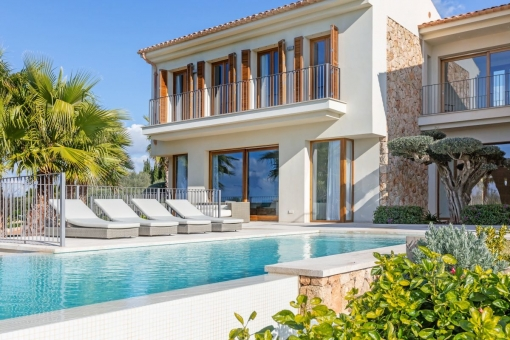Luxurious pool area