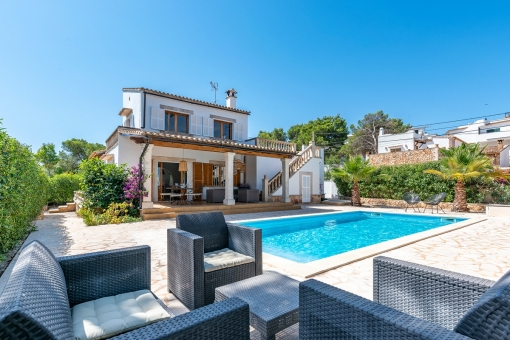Beautiful villa with pool and and holiday license in a quiet location in Cala Santanyi close to a fine sandy beach