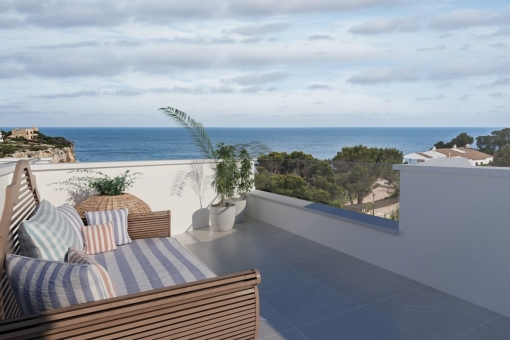 Modern building project with sea views in Cala Santanyi, only a few metres from a sandy beach