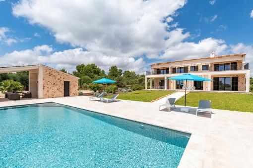 Dreamlike pool area