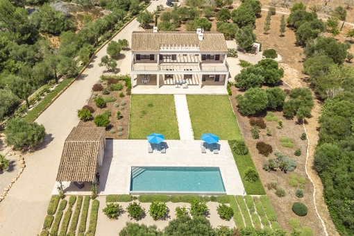 Bird´s eye view of the property