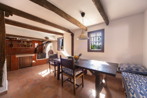 Old, typical mallorcan kitchen