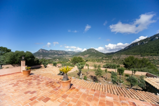 Terrace with wonderful panoramic views