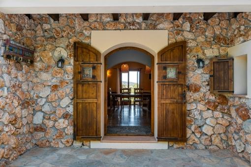 Authentic entrance door