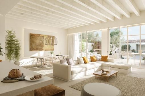 Modern meets traditional design - Elegant town house in Santanyí