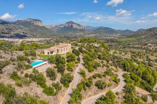 Modern finca situated on a mountain in Alaro with fantastic views of the Tramuntana