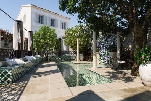 Hotel boutique con 11 habitaciones y permiso de construcción en Alaró
