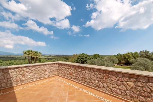 Obere Terrasse mit Ausblick