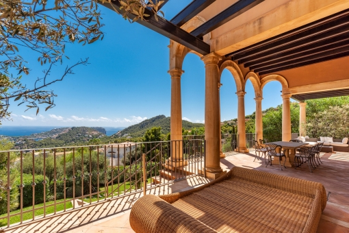 Large terrace with sweeping views