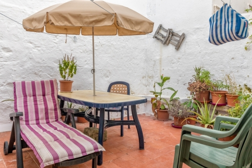 Beautiful, small town house with patio in Es Castell