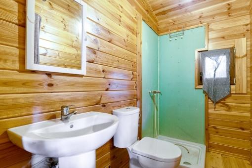 Unique bathroom with shower