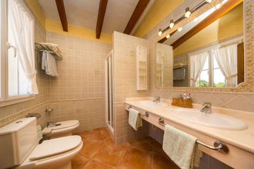 Second bathroom with double sink