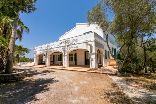 Beautiful newly-built finca with pool and 4 hectares of land in a privileged area in Menorca