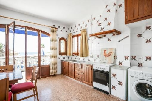 Otra cocina con vistas al mar