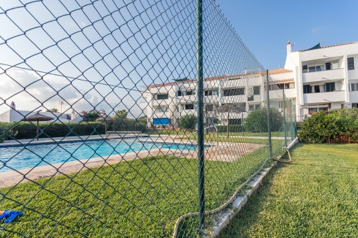 Fenced-in communal pool