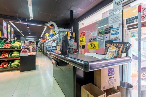 Ansicht der Ladenfläche