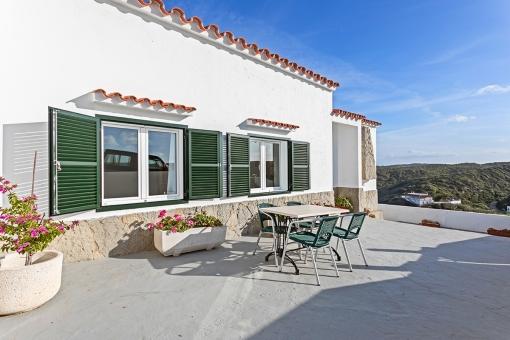 Sunny dining terrace